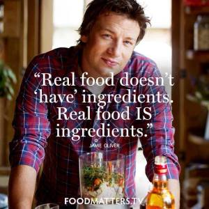 Real Food is ingredients